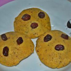 奶香玉米面豆渣饼