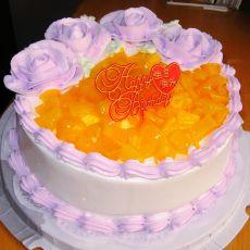 紫色玫瑰蛋糕