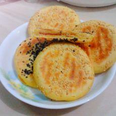 麻香玉米面红糖馅饼