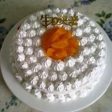 黄桃奶油蛋糕