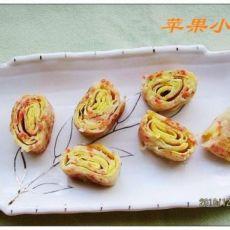 鸡蛋香葱卷饼