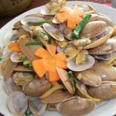姜葱爆花蛤