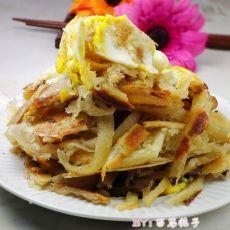 香酥鸡蛋葱花饼