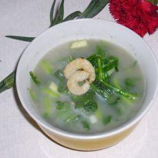 葱香海米茼蒿汤