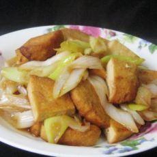 大葱炒素鸡