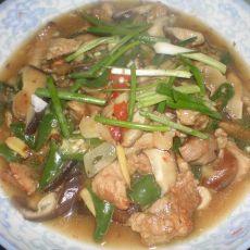 香菇炒猪肉