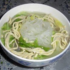 豆腐丝白菜粉丝汤
