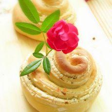 葱香油酥面包卷