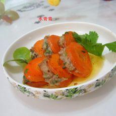 煎红萝卜酿肉的做法