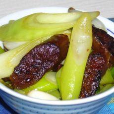 大葱炒鸭肝肠的做法