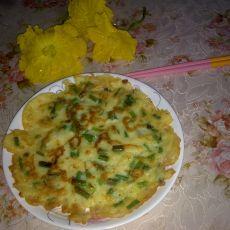 葱香玉米鸡蛋饼的做法