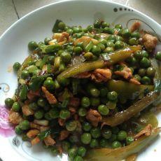 青豆炒肉片