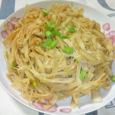 白菜炒豆皮
