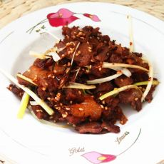 葱香芝麻牛肉片