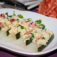 蟹肉浇冬瓜的做法