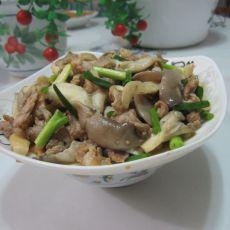 香葱蘑菇炒肉的做法