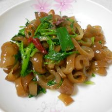 香菜炒猪皮