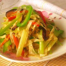五香豆腐皮炒芹菜