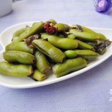 卤煮茶叶毛豆