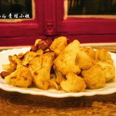 咖喱培根炒菜花