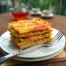 五香土豆丝煎饼的做法
