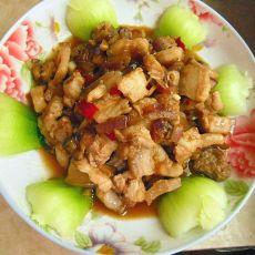 洋葱香菇焖肉
