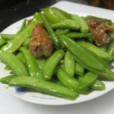 五香炒甜豆的做法