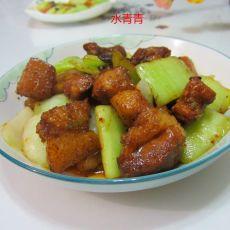 白菜梗子焖肉