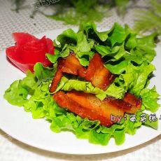 蒜香五花肉蔬菜卷