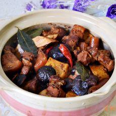 香菇豆干五花肉煲的做法