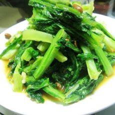 黄豆酱炒油麦菜