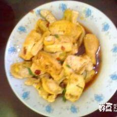 小葱豆瓣酱煎豆腐
