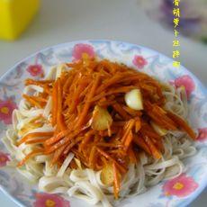 酱香胡萝卜丝拌面的做法