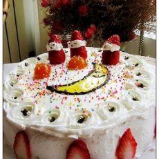 月芽草莓奶油蛋糕