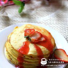 草莓果酱煎饼