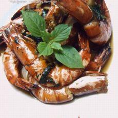 香草烤大虾