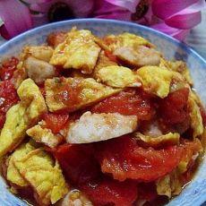 鱼丸番茄炒蛋的做法