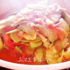 番茄炒西葫芦