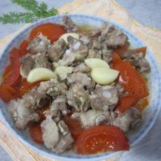 西红柿蒸排骨