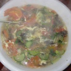 营养西红柿黄瓜鸡蛋汤的做法
