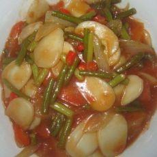 西红柿炒年糕的做法