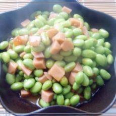 火腿肠番茄炒毛豆