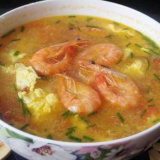 基尾虾番茄蛋汤