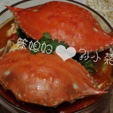 西红柿炖螃蟹