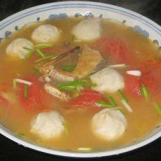 鱼丸鱼片番茄汤