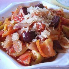 洋葱柚子炒番茄的做法