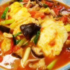 香菇番茄炒鸡蛋