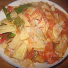 番茄青椒土豆片