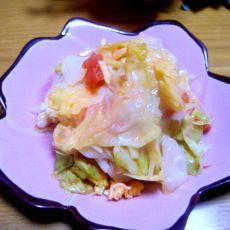 西红柿圆白菜的做法