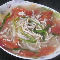番茄干丝肉丝汤